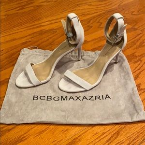 "BCBGMAXAZRIA Blue/Grey Suede 4"" Heels"